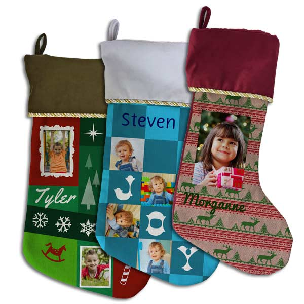 Personalized photo stocking can be designed in many different ways