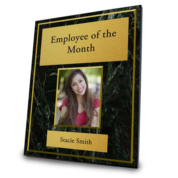 Custom Employee of the Month Award Plaque