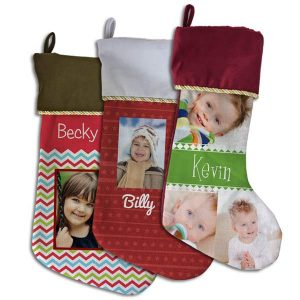 Add a unique flair to your holiday decor with our personalized photo stockings.