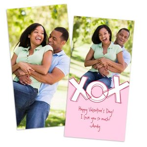 4x8 post card double side greeting card for Valentine romance pictures