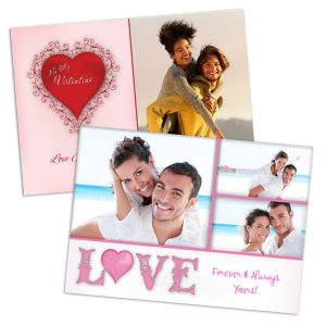 Customize the perfect Valentine with our 5x7 glossy photo cards.