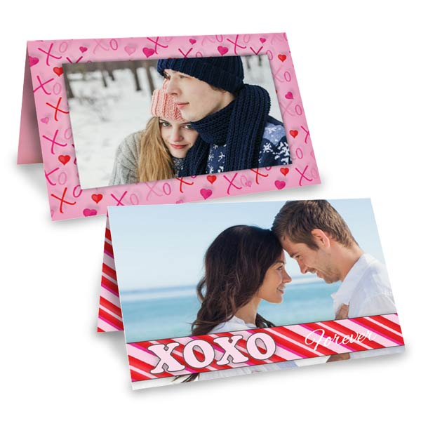 5x7 folding card stock greeting card for Valentine's Day romantic photos