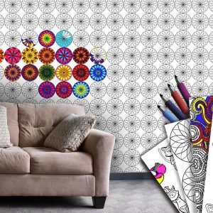 Brighten your wall with coloring wallpaper, color your wall with markers