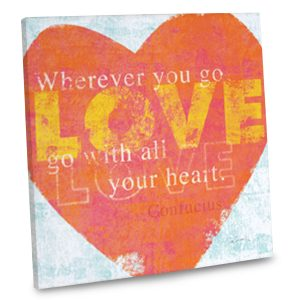 Add a heartwarming accent to your home decor with our love inspired quote canvas.