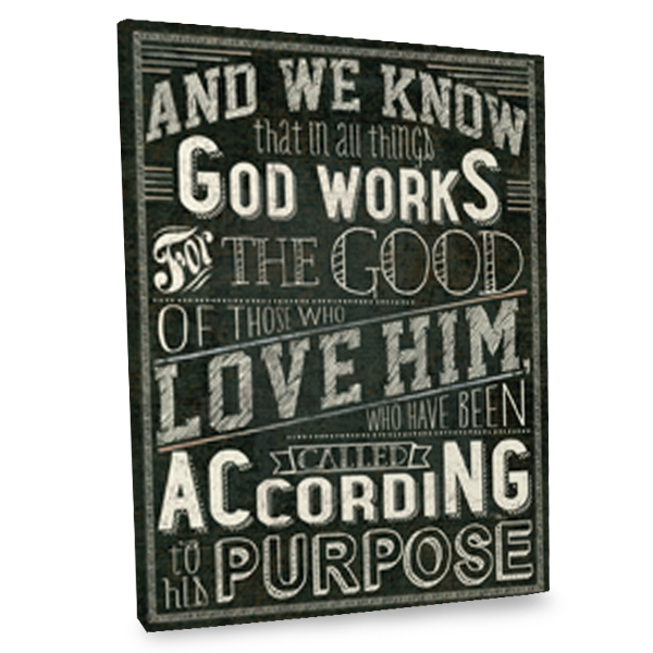 God Works for the Good canvas quote will add a stunning touch to your home's interior.