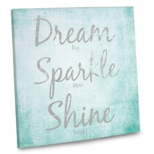 Start off each day with an inspirational quote on canvas for the perfect decor accent.