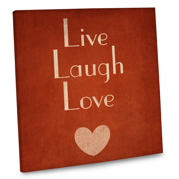Our Live Laugh Love quote canvas will add a warm touch to any room in your home.