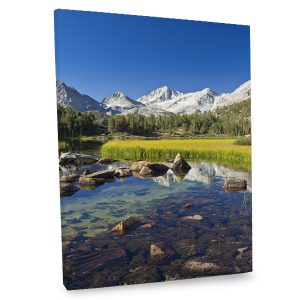 Add a hint of natural beauty and elegance to your decor with our Mountain Stream canvas print.