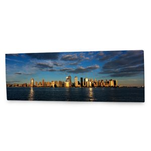 Fill up a wall with our stunning panoramic city landscape canvas print.