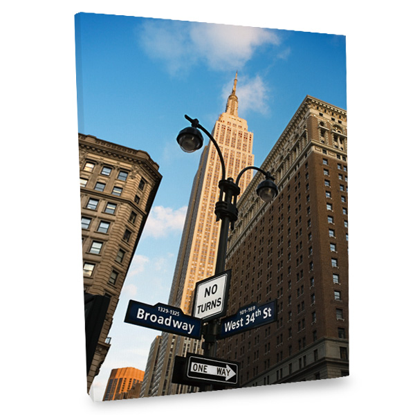 Incorporate the exciting feel of New York into your decor with our Broadway canvas print.