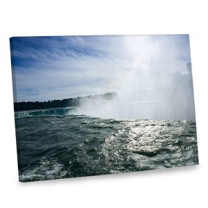 Our waterfall canvas photo print is printed in the highest quality with wrapped edges.