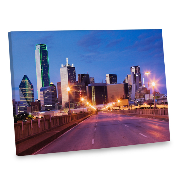 Add urban flair and sophistication to your décor with our city skyline wrapped canvas print.