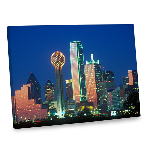 Our nighttime cityscape canvas makes the perfect decor accessory for any room in your home.
