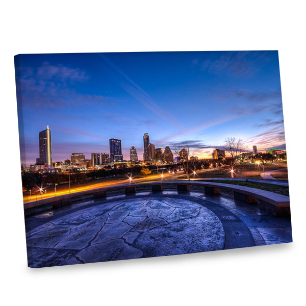 Add a urbane feel to your living area with our elegant gallery wrapped canvas print.