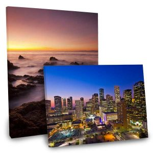 Gallery wrapped canvas with landscapes and city scenes for your home