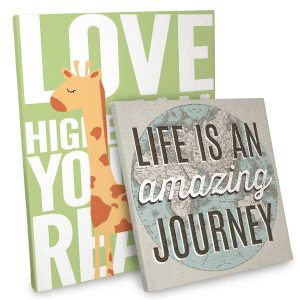 Inspirational quotes printed on beautiful wrapped Canvas perfect for your home or office.