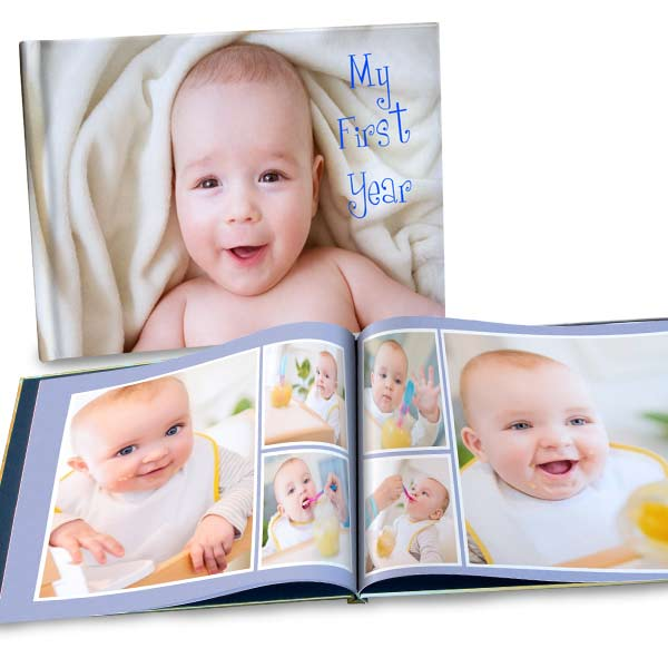 Add a photo to your cover and create the ultimate, custom 8x11 photo album.