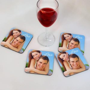 Create your own coaster set, 4 personalized coasters to accent your home decor and protect your table.