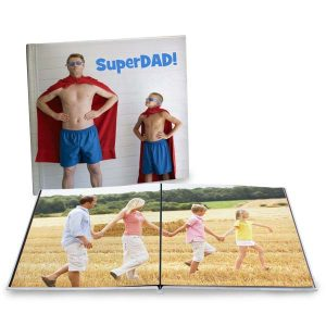 Create a coffee table photo book for your home with a 12x12 layflat photo book
