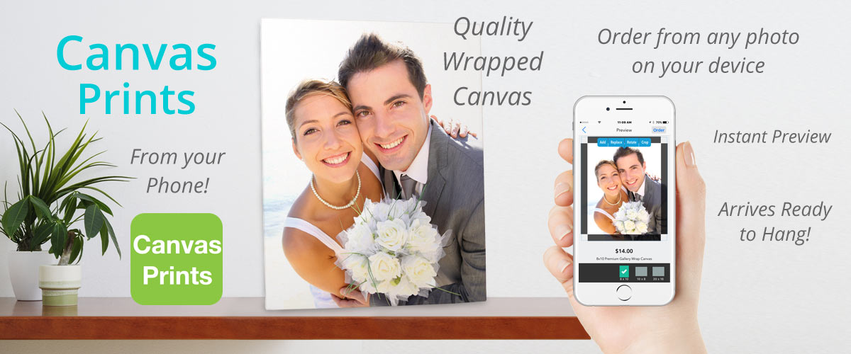 Order Beautiful Canvas Prints from your phone in minutes