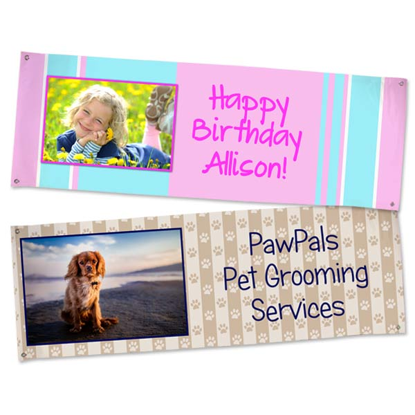 Create a custom banner for your business or create your own for a party with MailPix