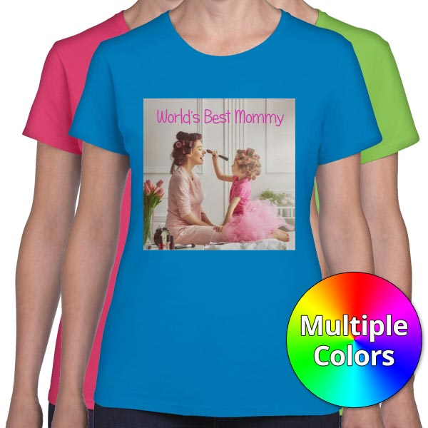 Create your own custom photo t-shirt with mailpix womens tshirts