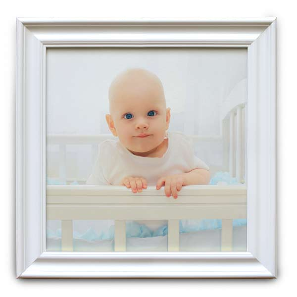 Create a beautiful white frame canvas for your home decor, perfect for baby photos