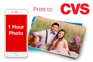 Use the 1 Hour Photo App to order prints from your phone and pick them up in 1 Hour at CVS or Walgreens.
