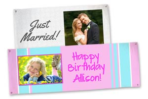 Create a banner to help you celebrate your next event, birthday, wedding or help promote your business.