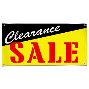 Pre-printed Clearance Sale Banner for your small business size 4x2