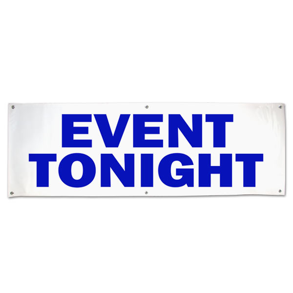 Make sure your guests can find the venue with an a large banner announcing your even size 6x2