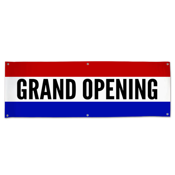 Grand Opening banner for your small business with a Classic Patriotic flair size 6x2