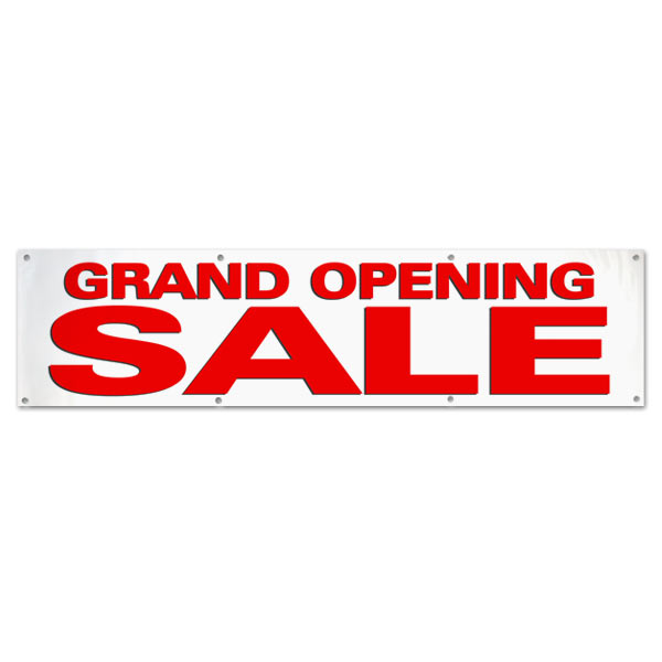 Grand Opening Sale banner for your small business, Large Red Sale Text size 8x2
