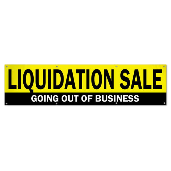 Manage your business and liquidation with a Going out of Business Liquidation Sale Banner 8x2