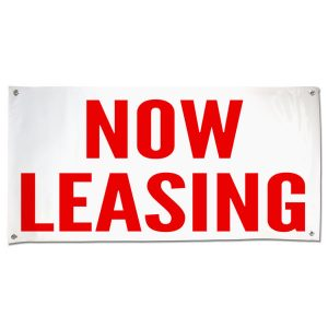 Lease your space with this Commercial Real Estate Now Leasing Banner size 4x2