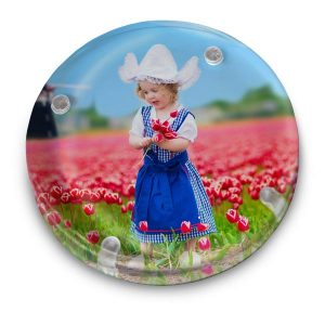 Add color to your desk with a beautiful photo paperweight