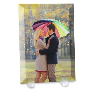 Turn your photo into a beautiful glass print to display on your shelf or mantel
