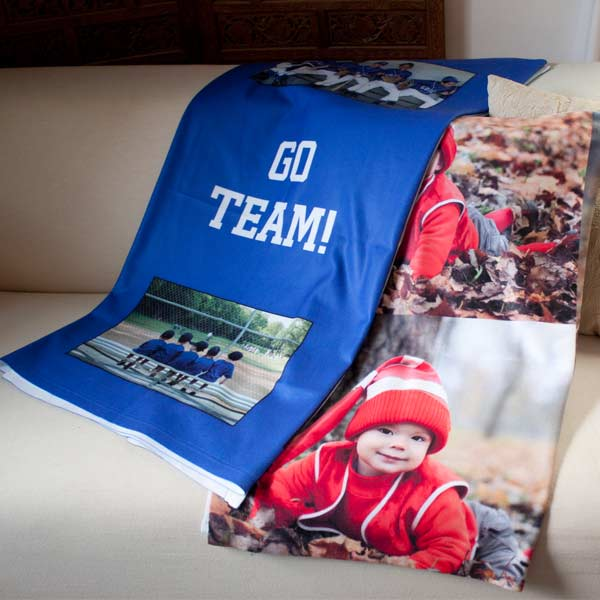 Create your own blanket for any occasion with MailPix custom photo blankets and photo collage fleece blankets