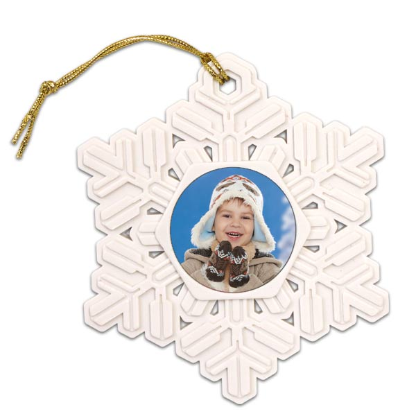 Create a beautiful snowflake photo ornament for our tree this holiday season with MailPix