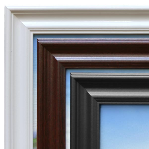 Create Framed canvas prints from MailPix with classic style wood frames