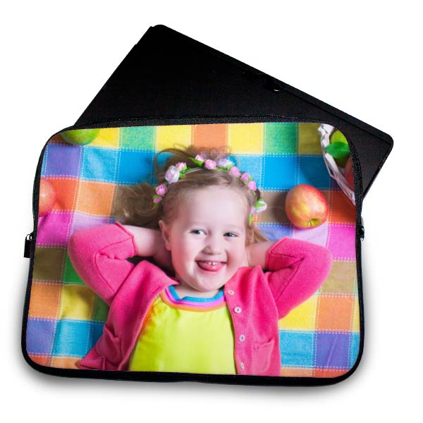 Protect your laptop with a personalized neoprene photo sleeve, available in multiple sizes!
