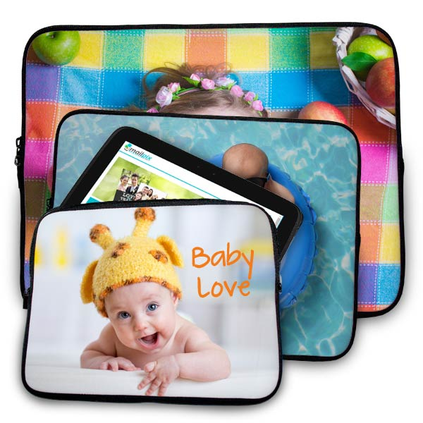 Create a custom photo laptop sleeve or case for your tablet with MailPix personalized neoprene cases