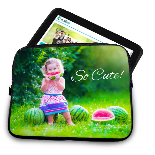 Create your own custom tablet case to protect your ipad, or amazon Fire and add your own custom text.