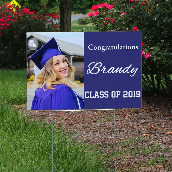 Celebrate your student's success and surprise them with a congratulations yard sign