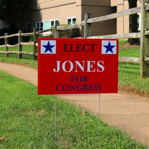 Create your own lawn sign with MailPix, perfect for elections!