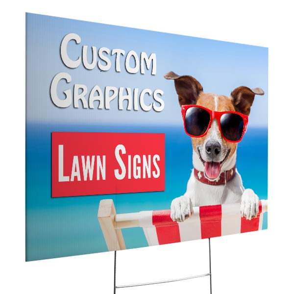 Create your own lawn sign for your small business or event