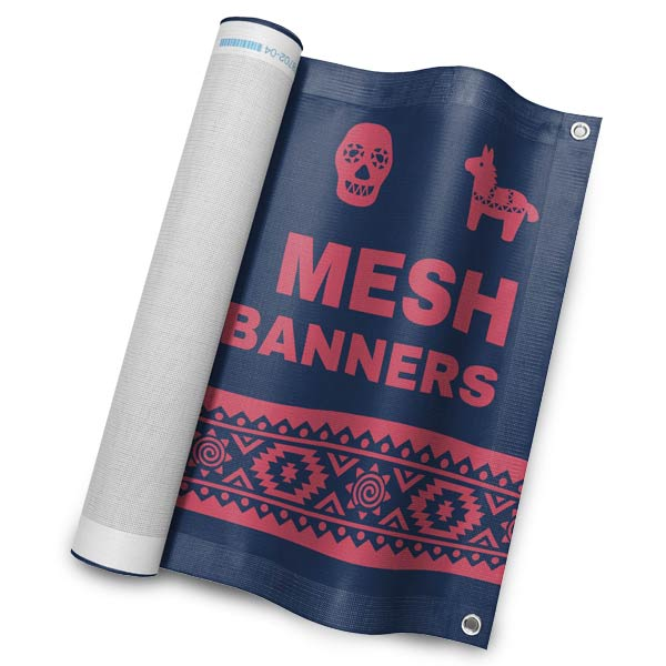 Create a mesh vinyl banner to allow wind to pass through