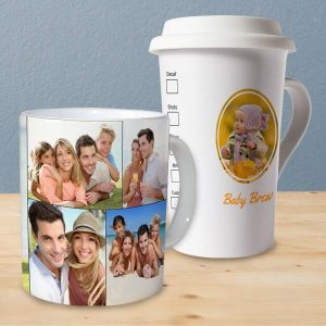 Start your day off right with a warm memory and a photo collage mug