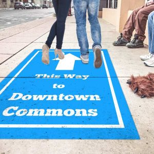 Create your own sidewalk and outdoor floor marketing