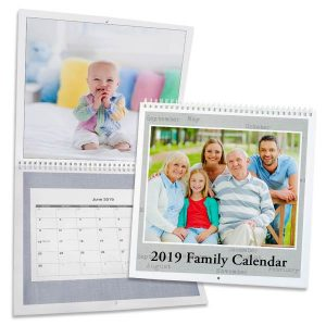 Keep track of your schedule with our 12x12 photo calendar and admire your photos everyday.